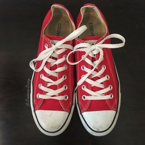 Converse- Classic Red Sneakers Size 7 Men's/ 9 Wms